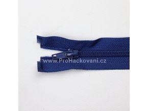 Spirálový zip dělitelný 40 cm sytě modrý