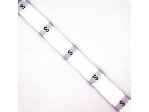 Velikostní štítek bílý S