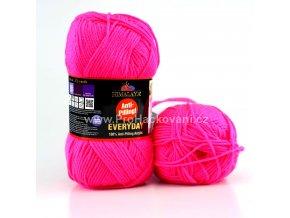 příze Everyday Neon 70052 růžová