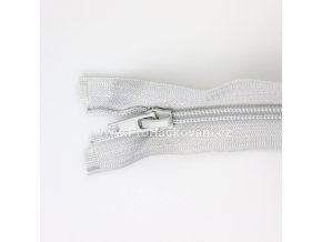 Spirálový zip dělitelný 30 cm šedostříbrný