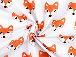 Bavlněná látka liška oranžová