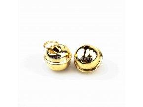 Rolnička kovová zlatá 14 mm