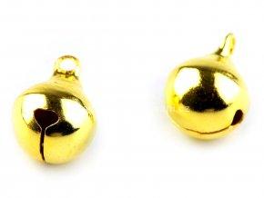Rolnička kovová zlatá 12 mm