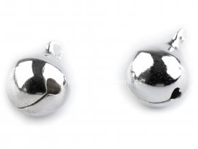 Rolnička kovová stříbrná 12 mm