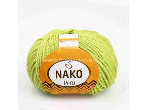 příze Peru 6824 hráškově zelená