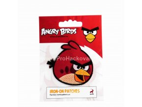 Nažehlovací aplikace Angry Birds červený