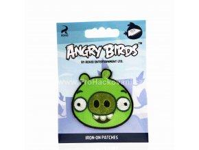 Nažehlovací aplikace Angry Birds zelený
