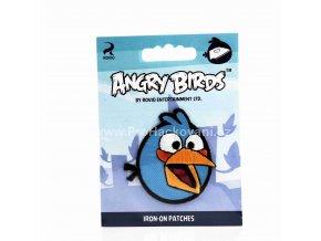Nažehlovací aplikace Angry Birds modrý