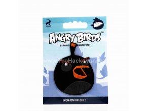 Nažehlovací aplikace Angry Birds černý