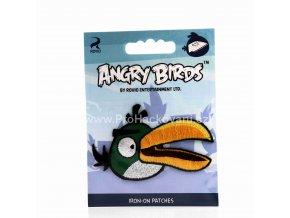 Nažehlovací aplikace Angry Birds tmavě zelený