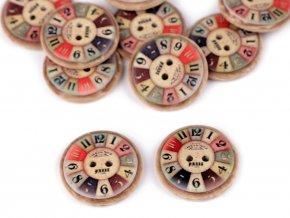 Knoflík kulatý hodiny 26 mm