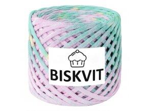 špagáty Biskvit 3103 žíhaná zelená s růžovou