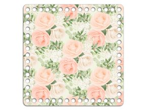 Dno s obrázkem čtverec 20 x 20 cm Rosalia