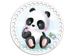 Dno s obrázkem kruh 15 cm pandí mládě