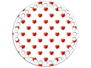Dno s obrázkem kruh 15 cm láska