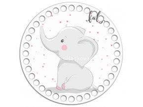 Dno s obrázkem kruh 15 cm sloní mládě