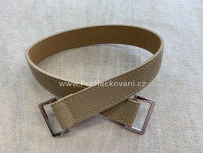 Koženkový popruh na kabelku Hooked 40 cm kapučíno