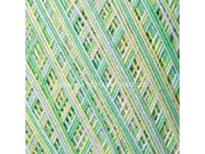 příze Violet 501 zelená, žlutá