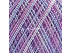 příze Violet 3053 modrá a růžová