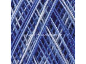 příze Violet 5355 modrá a bílá