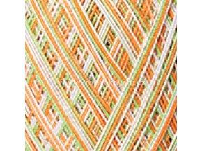 příze Violet 503 zelená a oranžová