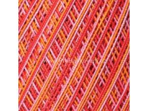 příze Violet 507 červená, oranžová
