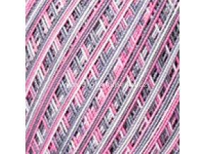 příze Violet 504 růžová, šedá