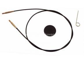 Výměnné lanko KnitPro 100 cm černá, zlatá