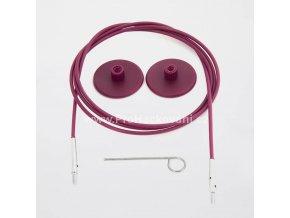 Výměnné lanko KnitPro 50 cm fialové