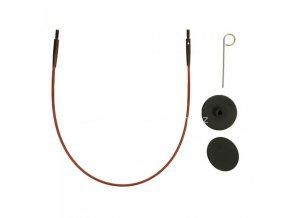 Výměnné lanko KnitPro 60 cm fialová