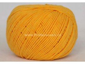 příze Jeans 8182 žlutá slunečnicová