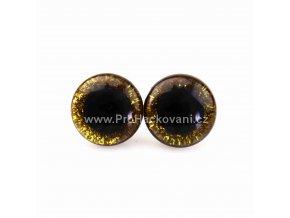 Oči bezpečnostní třpytivé zlaté, 18 mm
