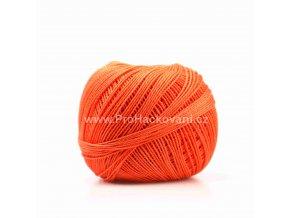 Háčkovací příze Sněhurka 2384 sytá oranžová