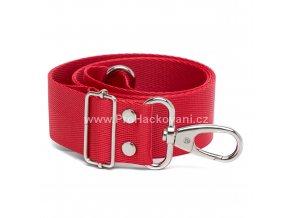 Textilní popruh na kabelku 60-113 cm červený