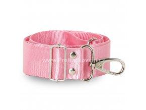 Textilní popruh na kabelku 60-113 cm růžový