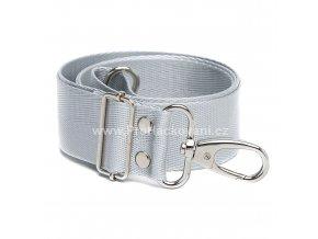 Textilní popruh na kabelku 60-113 cm stříbrnošedý