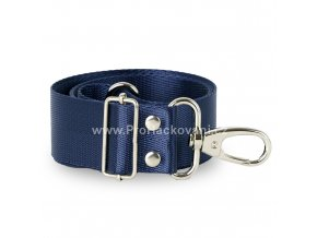 Textilní popruh na kabelku 60-113 cm tmavě modrý
