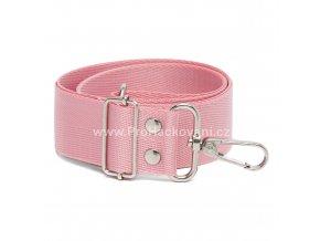 Textilní popruh na kabelku 60-113 cm světle růžový