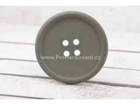 Silikonová podložka knoflík 9 cm světle šedá