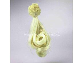 Vlasy pro panenky vlnité 20x100 cm světlý blond