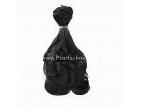 Vlasy pro panenky vlnité 20x100 cm černá