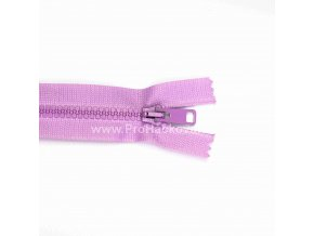 Kostěný zip dělitelný 75 cm světle fialový