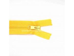 Kostěný zip dělitelný 75 cm slunečnicově žlutý