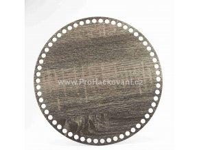 Dno na košík kruh Ø 25 cm dub šedý, jednostranný dekor