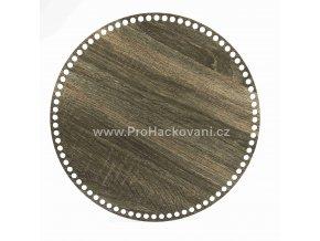 Dno na košík kruh Ø 35 cm dub šedý, jednostranný dekor