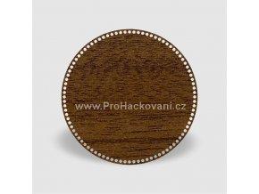 Dno na košík kruh Ø 40 cm ořech, jednostranný dekor