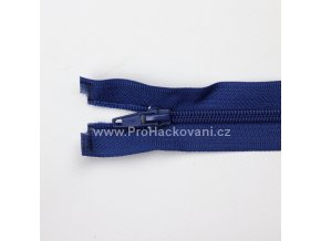 Spirálový zip dělitelný 30 cm sytě modrý