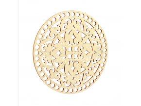 Víko na košík kruh Ø 20 cm bříza, ornament