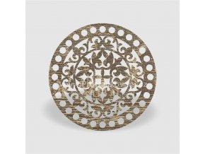 Víko na košík kruh Ø 20 cm dub šedý, ornament