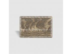 Dno na košík obdélník 30x20 cm dub šedý, jednostranný dekor
